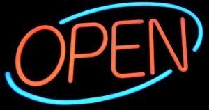 Open for business….