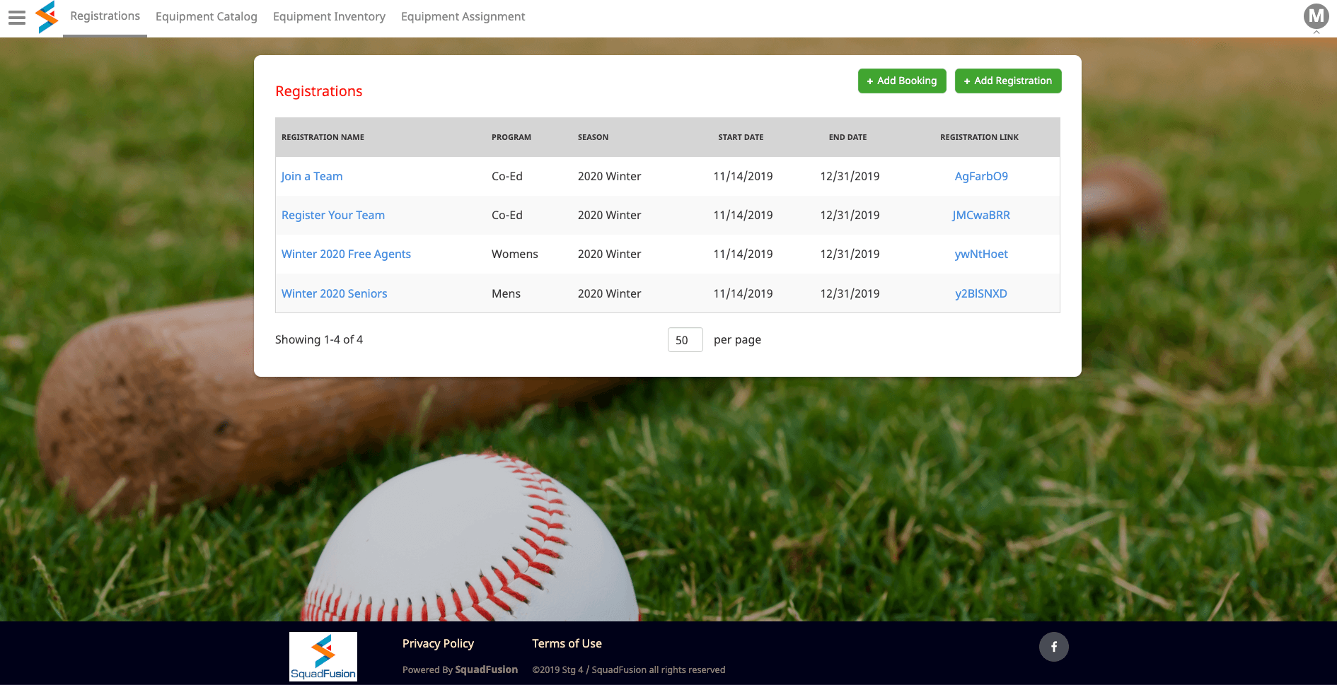 Simplify Sports League Registration